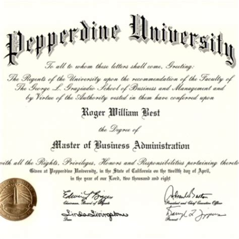 Pepperdine Vs William And Mba by Degrees Roger William Best