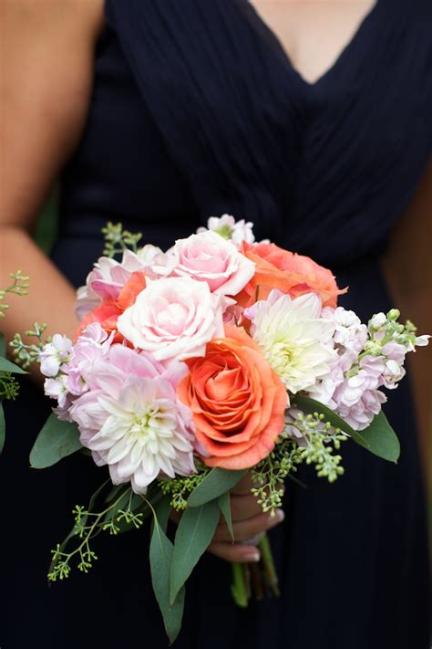 coral flowers coral navy blue wedding silk flowers inspirations on wedding