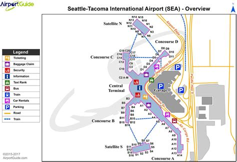 seatac airport map rental car seattle tacoma airport