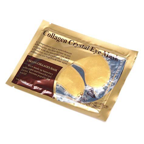 Collagen Eye Bag Mask 1 pair 24k gold collagen eye mask circle eye