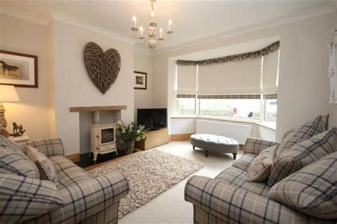Modern Country Living Room Ideas cosy contemporary country living room with tartan check