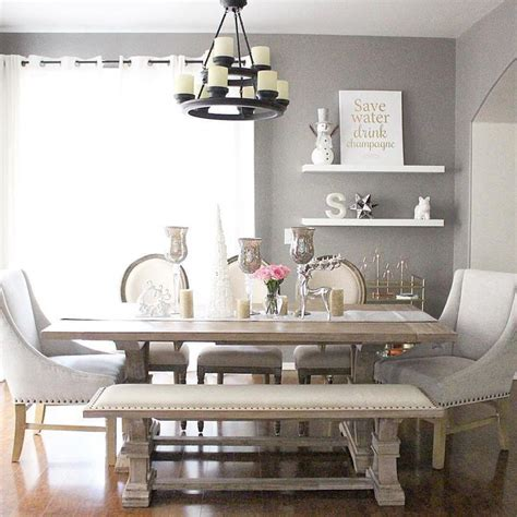 gray dining table with bench dining room best modern rustic dining room table sets