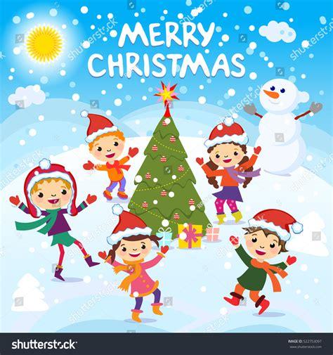 imagenes graciosas de navidad merry christmas 2017 winter fun cheerful stock vector
