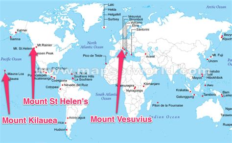 map of volcanoes in america map of the world including volcanoes naturalhazardsvolcano