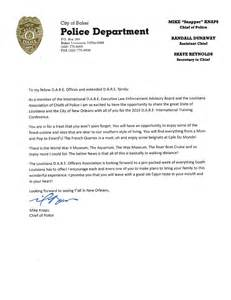 a letter from chief mike knaps of the baker la police