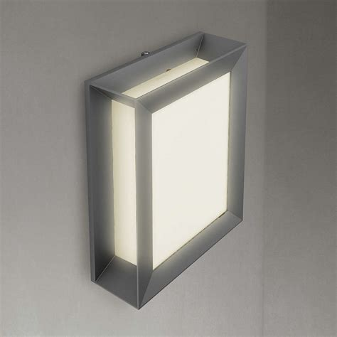 led outside wall lights philips karp led outdoor wall light anthracite at lewis