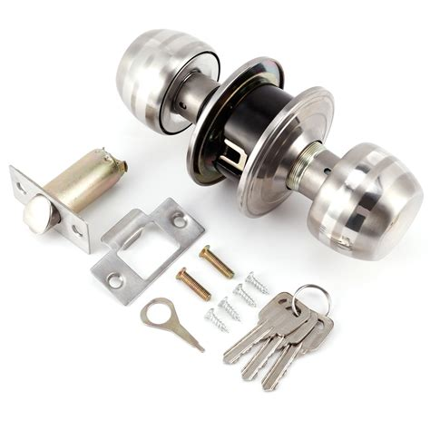 Exterior Door Lock Set Entry Door Lock Sets Stainless Steel Keyed Alike Exterior Mortise Key Security Ebay