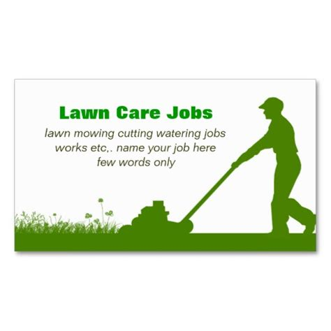 Business Card Templates Free Yard Sales by Lawn Care Grass Cutting Business Card Lawn