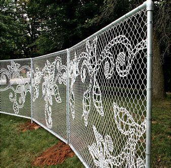 home design studio chain link wall décor decorate a chain link fence gardening landscaping