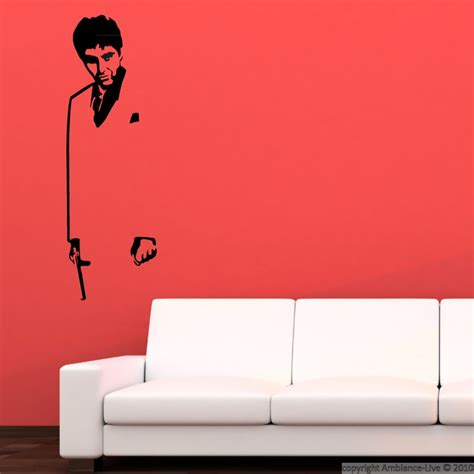scarface wall mural scarface silhouette wall mural