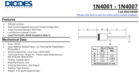 diode 1n4007 datasheet free diode 1n4001 ltspice 16 images kutipan datasheet 1n4001 sai 1n4007 switch mode power supply