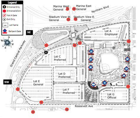 citi field map citi field parking map my