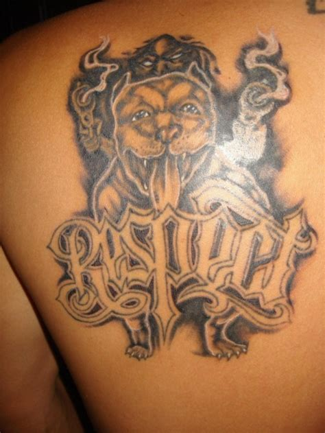 pitbull tattoo you probably own a pitbull if mma forum