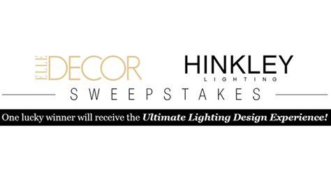 Elle Decor Sweepstakes - elle decor hinkley lighting sweepstakes elledecor com hinkleylighting