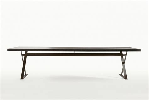 B B Italia Dining Table Dining Table On Metal Frame With Wooden Table Top Max B B Italia Luxury Furniture Mr