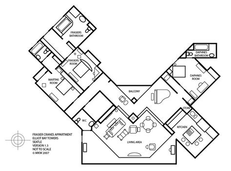 frasier apartment floor plan frasier season 1 complete