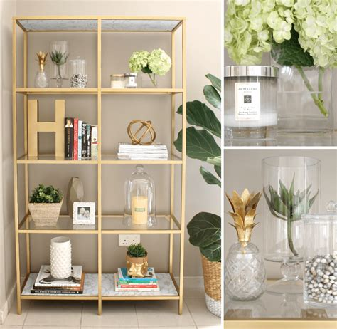 transform a vittsj 214 shelving unit into an gold