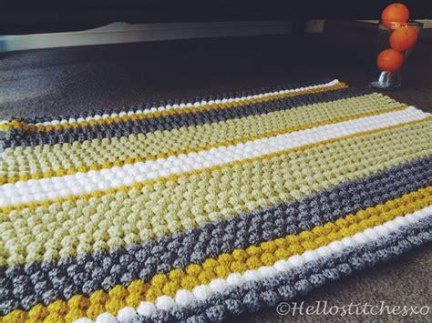 blanket rug puff bobble stitch blanket rug
