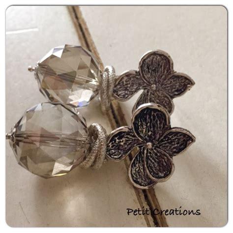fiori d argento swarovski e fiori d argento gioielli orecchini di