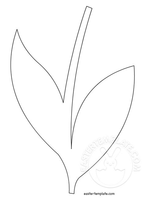 flower stem template flower stem cut out easter template