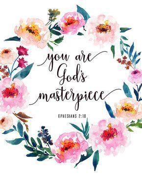 Bible Verse Printable You Are God*s Masterpiece Ephesians