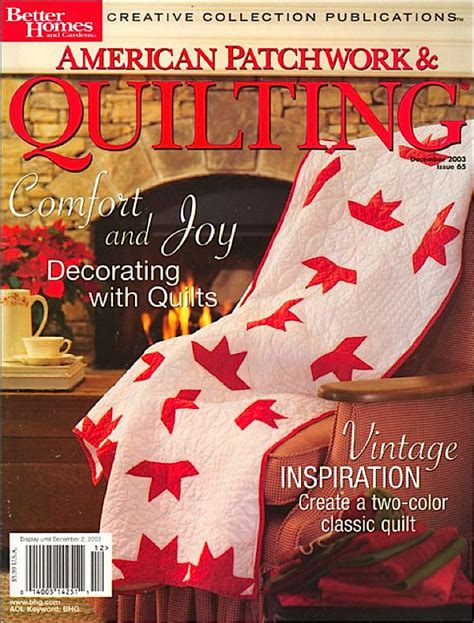 American Quilting And Patchwork - american patchwork quilting magazine books magazines