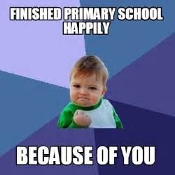 Site Report Template meme creator finished primary school happily because of