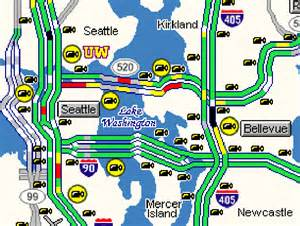 Washington Dot Traffic Map by Wsdot Getting Around Puget Sound Area Construction