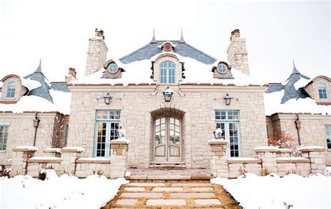 french chateau style home in stucco cast stone french chateau french home exterior decor de provence