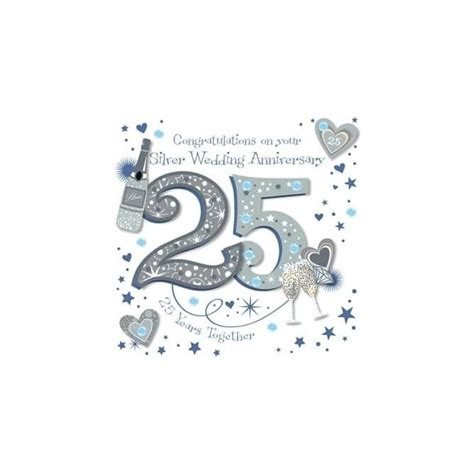Wedding Anniversary Congratulations Cards by Congratulations On Your Silver Wedding Anniversary Card