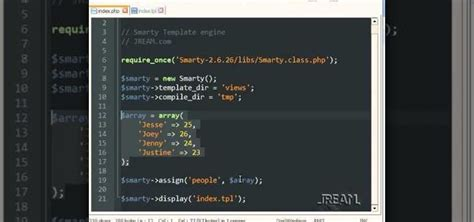 php tutorial template engine how to use the smarty template engine with php programming