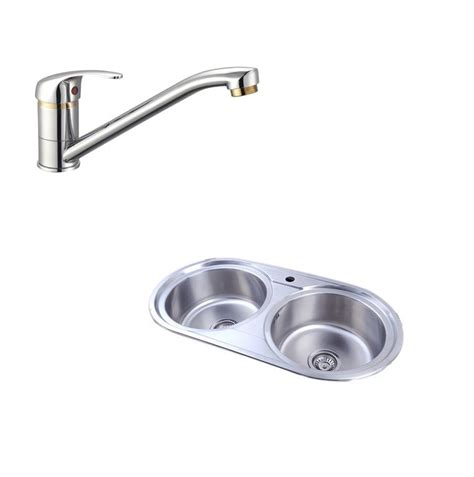 round stainless steel kitchen sink easy es2020 reversible 2 0 round double bowl stainless