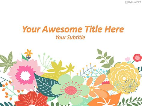 Free Flowers Powerpoint Templates Themes Ppt Flower Powerpoint Template