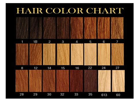 what color is my hair chart texture color chart weave