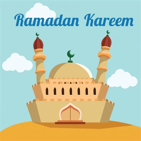 cartoon ramadan wallpaper ramadan background design vector free download