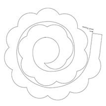 paper roses roses and templates on pinterest