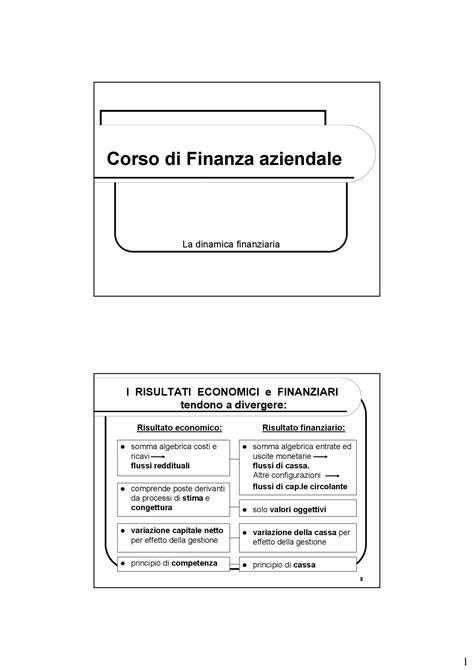 finanza aziendale dispense dinamica finanziaria dispense