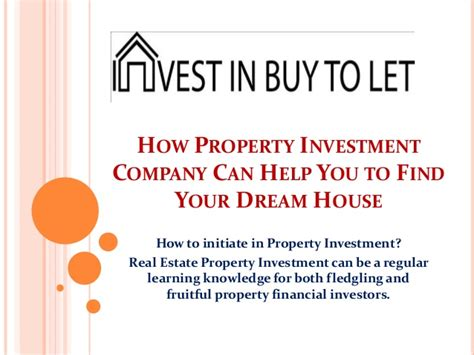 how to find your dream home how property investment company can help you to find your