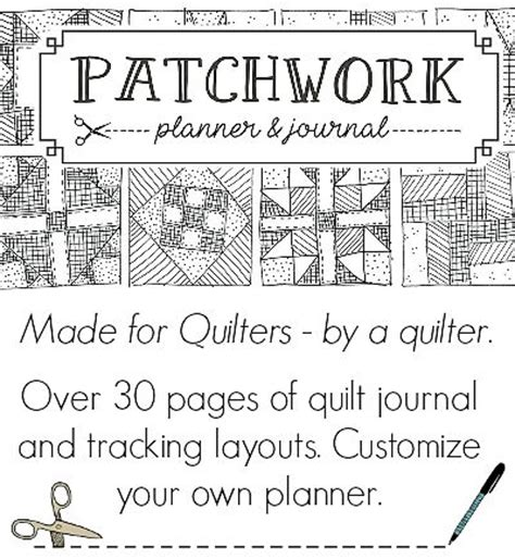 quilt journal template make your own quilt kits planners journals and planner