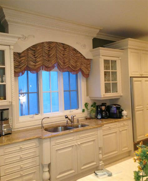 Window Treatment Topics arched shirred window treatment traditional kitchen