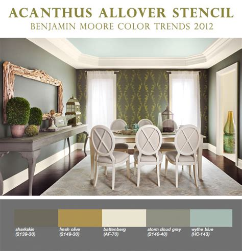 wall stenciling with benjamin color trends 2012 171 stencil stories