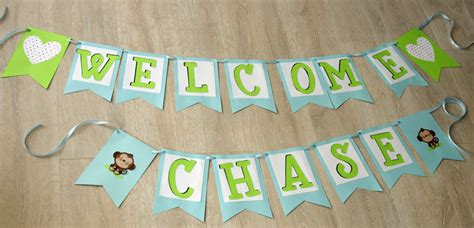 Make A Baby Shower Banner by How To Make A Simple Baby Shower Banner Create And Babble