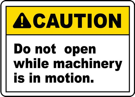 label design open source do not open machinery label e2151 by safetysign com