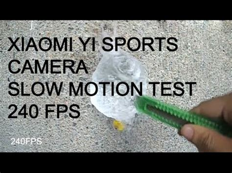 tutorial slow motion xiaomi yi xiaomi yi sports camera slow motion video test youtube