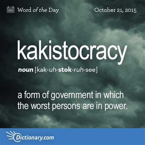 kakistocracy word of the day dictionary