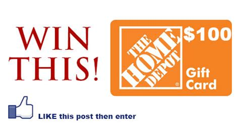 Homedepot Com Gift Card - enter to win 100 home depot gift card julie s freebies