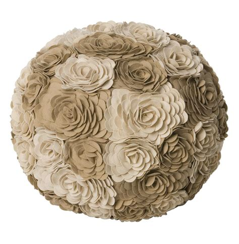 floral pouf ottoman alana ivory taupe modern woolen floral ottoman floor pouf
