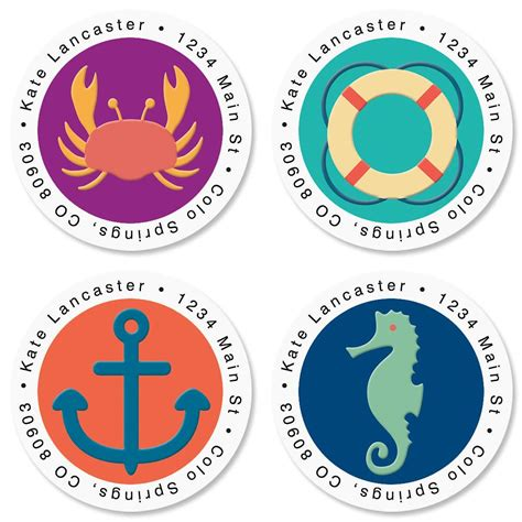 label design round coastal round address labels current catalog