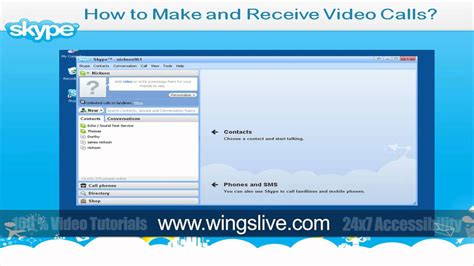 Tutorial Video Call Skype | how to make and receive video call in skype wingslive