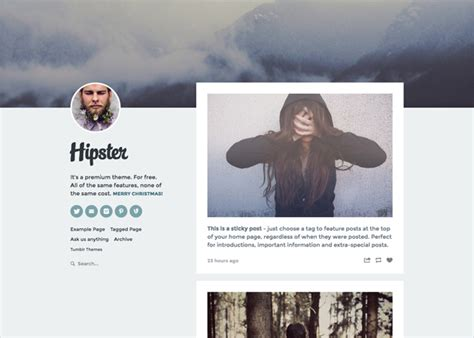 tumblr themes free text host hipster tumblr